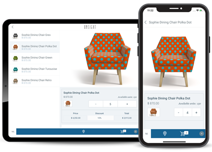 Catalogue app for homeware distributors