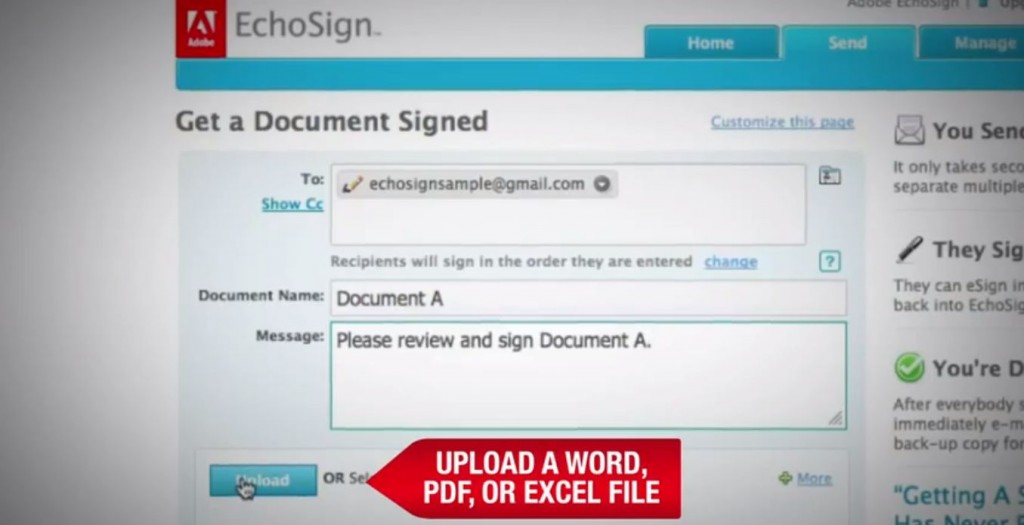 Echosign for a paperless office