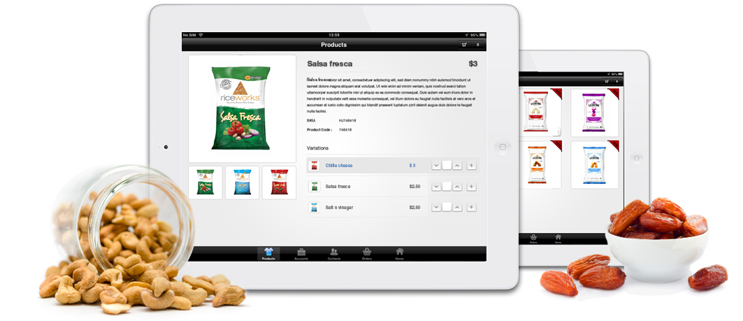 Steins Foods - App Product View